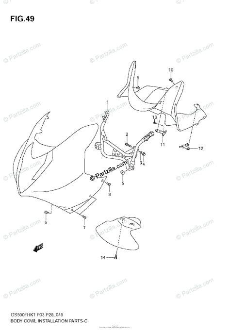 Suzuki Motorcycle Oem Parts Diagram For Body Cwl
