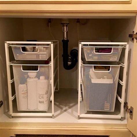 love    sink organizing system      throwing bathroom