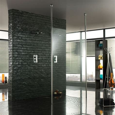 silver ceiling aquadart wetroom panel wall profile and two floor to