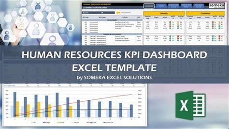 human resources hr kpi dashboard excel template eloquens