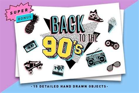 Back To The 90 by Back To The 90 S Icons Graphic By Cosmic Store