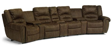 flexsteel latitudes  town curved reclining sectional