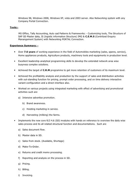 One Year Experience Resume Format by Susanta S Subudhi Resume 7 6 Years Experience Pdf Format