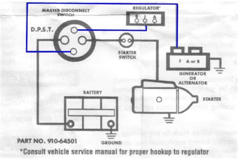 Car Wiring Diagram For Alternator And Starter by Wiring A 4 Post Battery Disconnect Switch