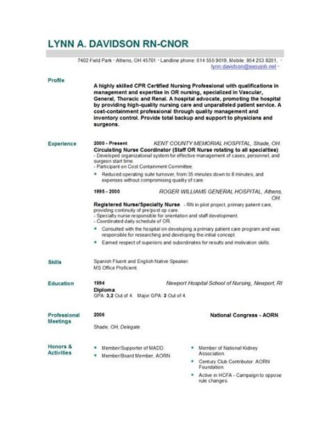 nursing resume template trackerspeak