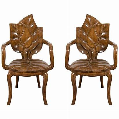 Chairs Nouveau Leaf Motif Side Furniture 1stdibs