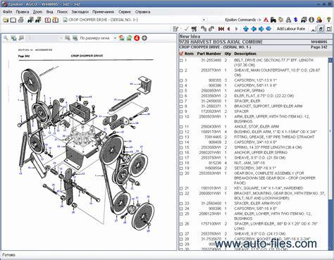 idea spare parts catalog repair manual