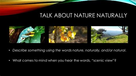 Teacher Version Talking Naturally About Nature, Lesson 1