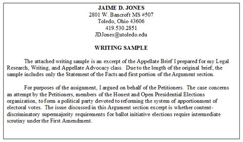 article template ingles sle writing legal writing sles f resume