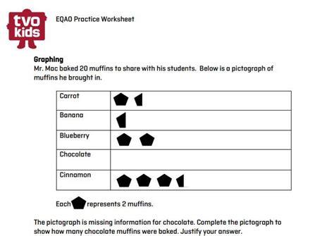 eqao grade 3 pictograph printable math tvokids eqao