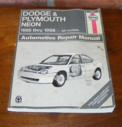 what is the best auto repair manual 1998 isuzu trooper electronic toll collection haynes dodge plymouth neon 1995 thru 1998 automotive repair manual 30034 ebay