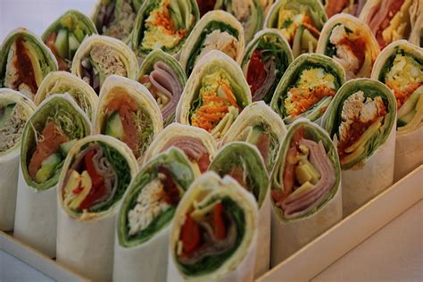 savoury canapes tortilla wraps celeste catering sydney