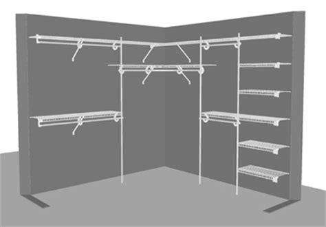 closetmaid corner wardrobe systems design ideas