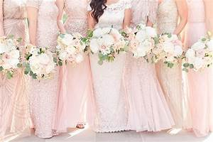 Wedding color of the month millennial pink beau coup blog for Millennial pink wedding dress