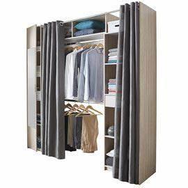 Dressing Tout En Un Avec Rideau : rideau de dressing rideau de penderie grande armoire ~ Dailycaller-alerts.com Idées de Décoration