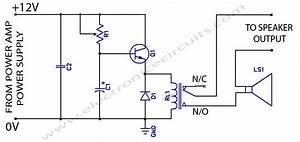 power amplifier speaker protection circuit schematic With circuit protection