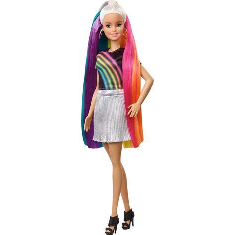 barbie rainbow sparkle hair doll  hair styling