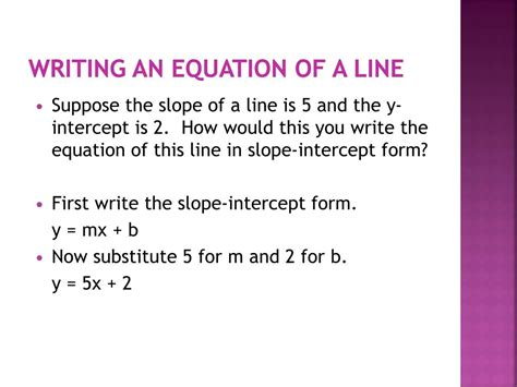 100+ [ Equation Of A Line In ]  Graphing Linear Equations