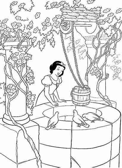 Coloring Snow Disney Princess Printable Princesscoloring