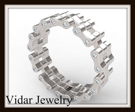 womens bike chain diamond wedding band vidar jewelry