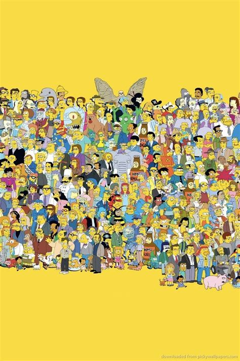 simpsons characters wallpaper  wallpapersafari