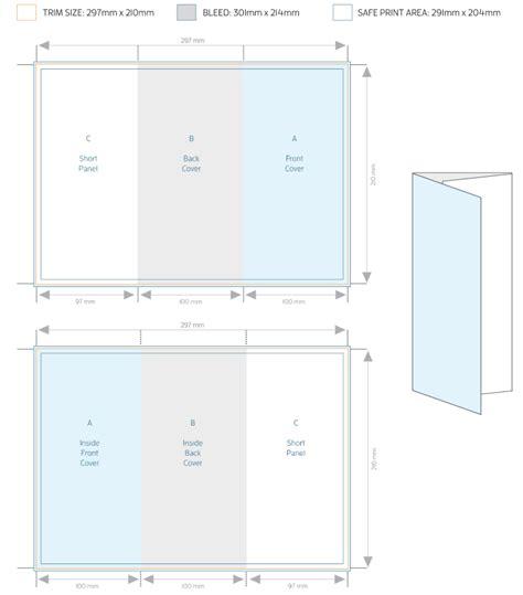 A4 Tri Fold Brochure Template Allprinting Brisbane A4 Trifold To Dl Brochure Template Allprinting Brisbane