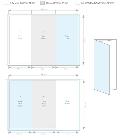 tri fold brochure template allprinting brisbane