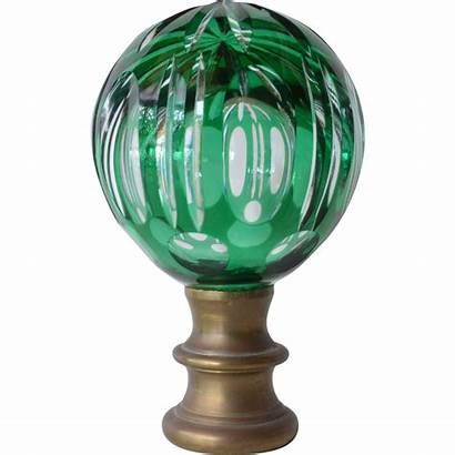 Newel Finial Glass 19th Rubylane Ruby Century