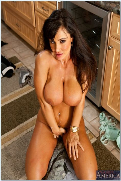 Hot Milf Porn Star Teasing In The Kitchen Photos Lisa Ann