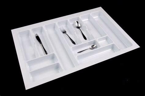 white cutlery tray box insert cabinet  cm kitchen drawer storage organiser dish cloths