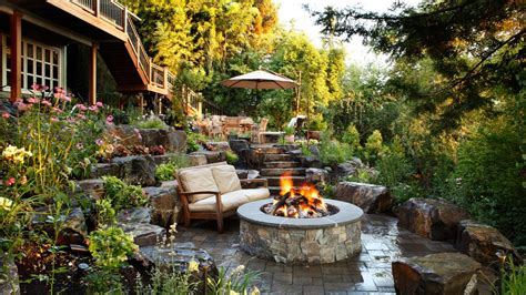 pit for garden fire pit design ideas outdoor spaces patio ideas decks gardens hgtv