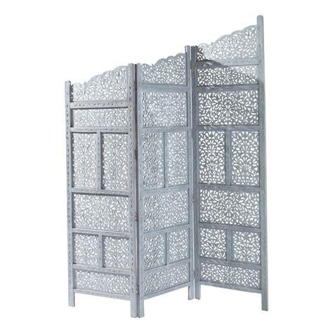 leroy merlin chambre bébé paravent en bois gris l 152 cm rajasthan maisons du monde