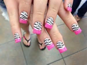 Zebra pink nail designs easyday
