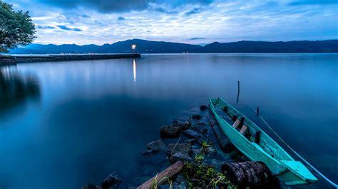 wallpaper sinar matahari laut teluk danau alam