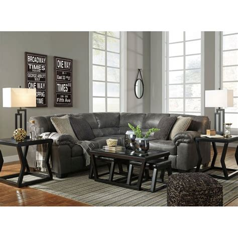 Raf Sofa Sectional by Bladen Slate Laf Sofa Raf Loveseat Sectional