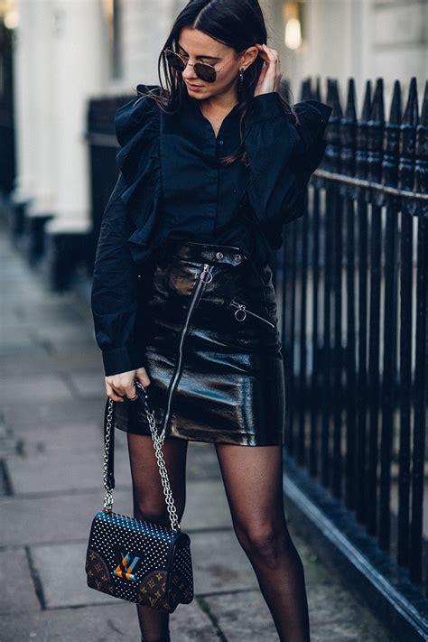 effortless chic   total black outfit fashionvibenet