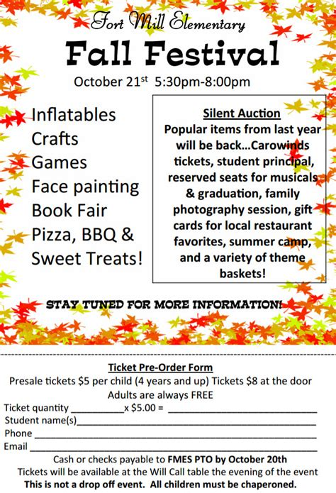 fall festival names the gallery for gt pto meeting flyer