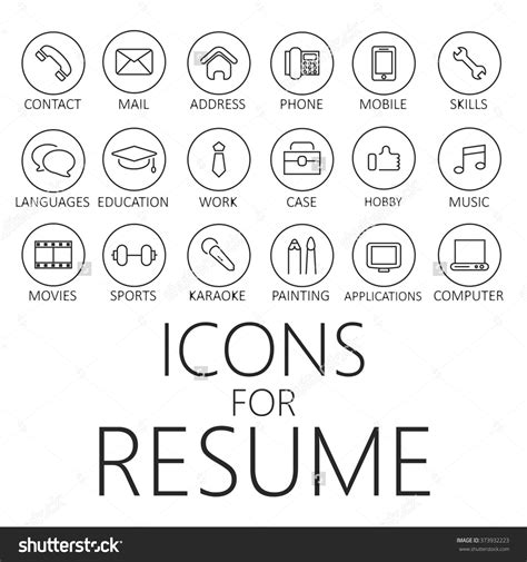 Free Resume Icons Vector by Thin Line Icons Pack For Cv Resume Cvicon