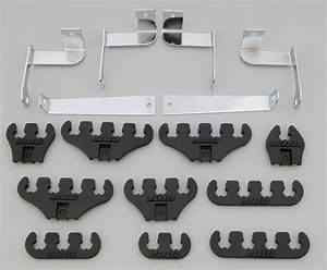 Moroso 72133 Spark Plug Wire Loom Kit - Ford Small Block - Black
