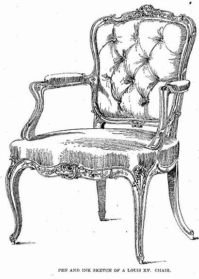 Drawing Sketches Furniture Chair Sketch Armchair Techniques