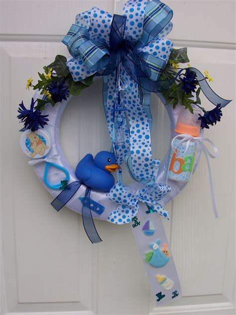 custom created baby wreaths  hospital doors