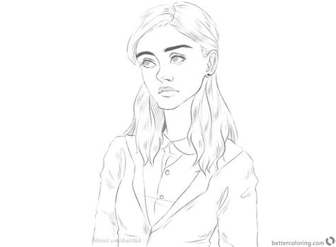 stranger  coloring pages nancy wheeler awesome art