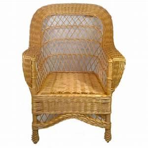 Fauteuil En Osier : fauteuil d 39 adulte en osier blanc haut dossier la ~ Melissatoandfro.com Idées de Décoration