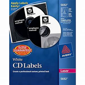 avery laser cddvd labels pack of 40 by office depot With cd disc stickers