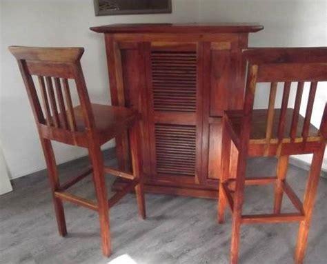 chaise bois et chiffon module annonces bar chaises de bar en acacia massif