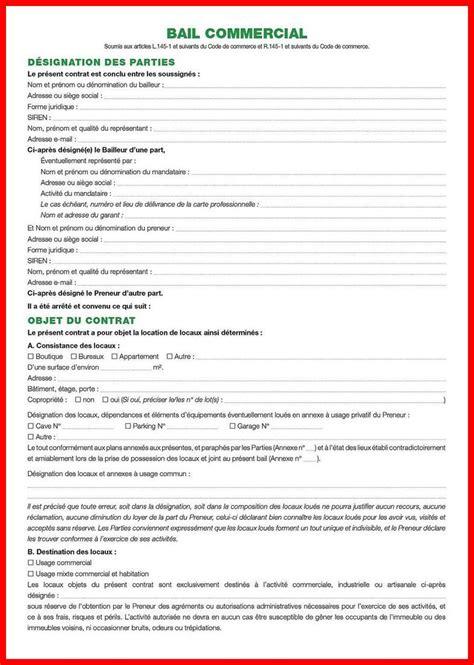 modele de bail professionnel pdf modele resiliation bail professionnel gratuit mod 232 le de