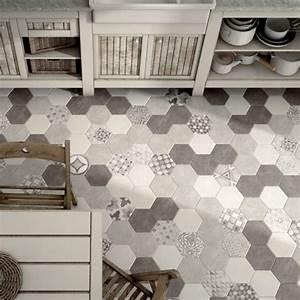 Carrelage Hexagonal Blanc : les 25 meilleures id es concernant carrelage hexagonal sur ~ Premium-room.com Idées de Décoration