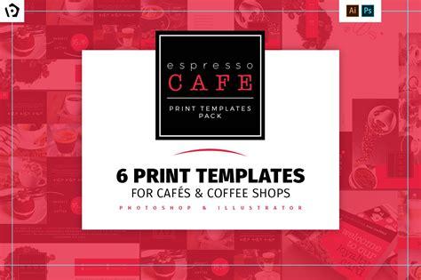 cafe menu template pack brochure templates creative market