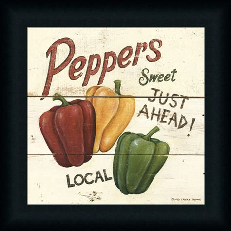 country kitchen signs sweet peppers country kitchen sign framed print wall 2890