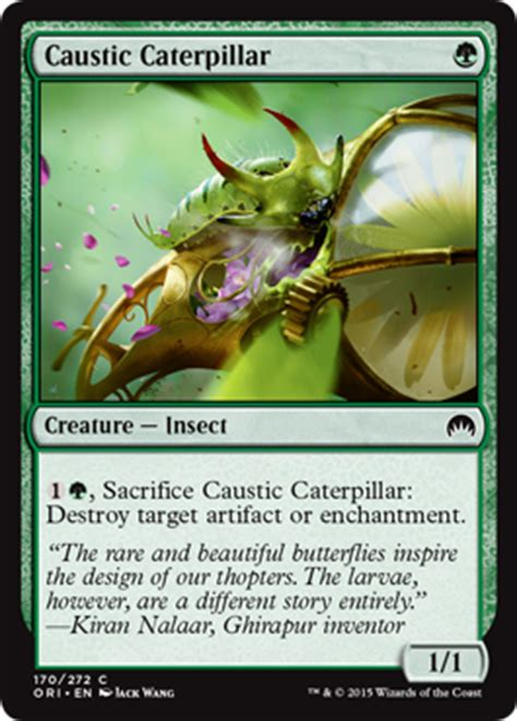 mtg insect deck 2015 caustic caterpillar from magic origins spoiler